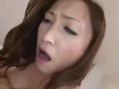 Japanese milf rides until that babe receives creampie