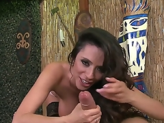 Gorgeous milf Ariella Ferrera likes to suck Danny Mountains large and beefy cock