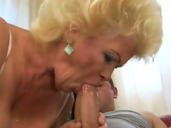 Ravishing nature granny Effie is a wild slut when it comes to having ribald sex with a young fellow
