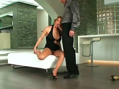 A backstage movie with buxom blonde lady Ana Monte Real and her paramour with hard cock