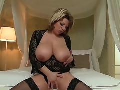 David Perry has big sufficiently dick to satisfy Silvie Wild with her powerful big boobs