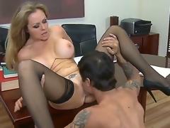 Dyanna Lauren is a consummate and first sex teacher for her student named Alan Stafford,