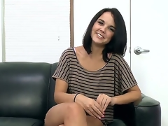 Brunette Dillion Harper likes giving headjob