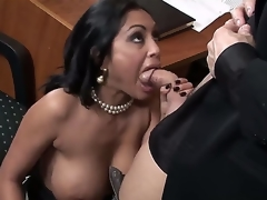 Incredibly hot Indian bulky breasted milf Priya Rai is all over her office co-worker in a wild and indeed arousing oral encounter which captures the eye.