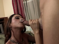 The breasty milf Ariella Ferrera has come to visit her son and accidentally got to some other flat where met a well hung guy that worshipped her big marangos and fed with the hard stick