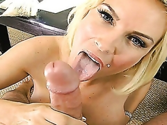 A horny pierced blondy Diamond Foxxx has really great raunchy appetite. That babe shows her large boobies of a consummate shape and hot juicy love tunnel willing to fuck. So she, indeed, will get what this babe wants!