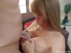 Gorgeous and hawt busty milf Darla Crane enjoys in pleasing her man Anthony Rosano after hes came home from work and gives him a hawt titjob on her knees