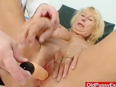Amazing busty gramma boobies and vagina gyno examination