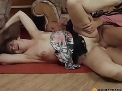 Woman acquires fucked on the floor with a man