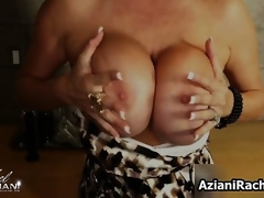 Hawt blonde milf gets horny showing off