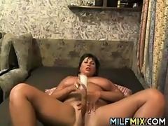 Fat Mother Masturbating