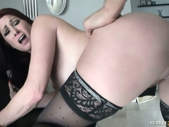 This MILF sucks like no other but sits down on that wang like it's been also lengthy