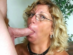 I've been chatting with horny older Alicia for sometime now when we finally decided that it was time to meet. After a quick call, this blonde granny was hurrying over to my place where that sweetheart eagerly lapped up my pole and loved the hawt facial I gave her.