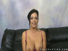 Busty amateur latina mean throat fuck
