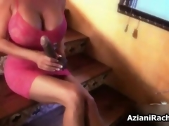 Titillating blonde slut gets powered sucking integument