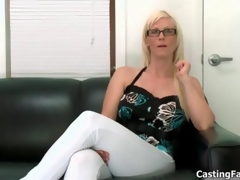 Nasty blonde slut goes crazy sucking movie 2
