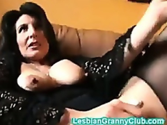 Randy granny brown masturbates with a actually chunky dildo