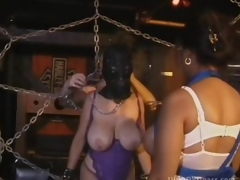 Brunette MILF With Large Natural Boobs Gets Bound Up and Tortured