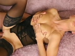 Sava legs look wonderful sufficiently to take up with the tongue in her constricted darksome stockings! The mature fucker works her toned hips in a hard banging reverse cowgirl!