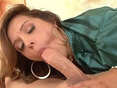 Francesca Le can't live without doing porn cuz that chick gets a wide diversity of schlongs to suck and fuck.  Here that chick is getting team-fucked by John, who has the kind of hard pecker and considerable stamina to give her multiple orgasms as this man fucks her silly.
